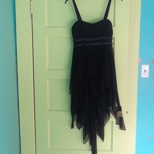 Black Dress with Beadwork